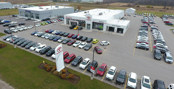 Stratford Toyota Arial View